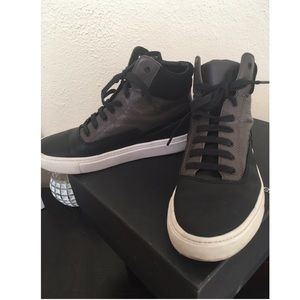 VINCE Newman Leather High-Top SneakerS
